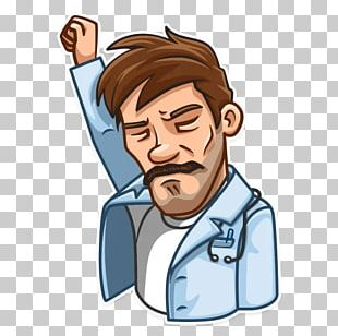 Telegram Thumb Facial Hair Sticker Boy PNG