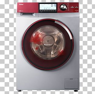 Washing Machine Haier Clothes Dryer Home Appliance Laundry PNG