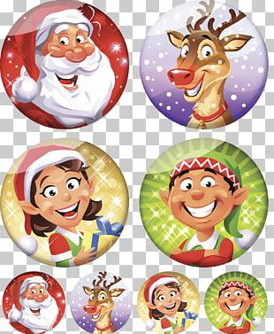 Santa Claus Christmas Ornament Cartoon Christmas Elf PNG