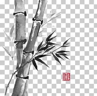Bamboo Drawing Ink Wash Painting PNG