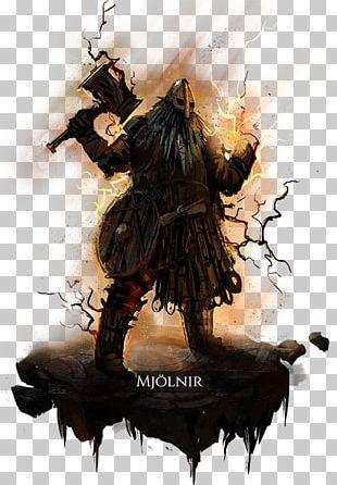 Camelot Unchained Mjölnir Hammer Costume Design PNG