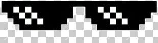 Thug Life Pixel Art Internet Meme PNG