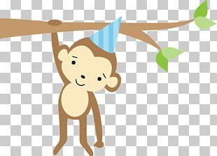 Greeting & Note Cards Wedding Invitation Birthday Cake Monkey Jungle PNG