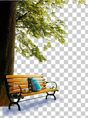 Table Bench Garden Furniture PNG