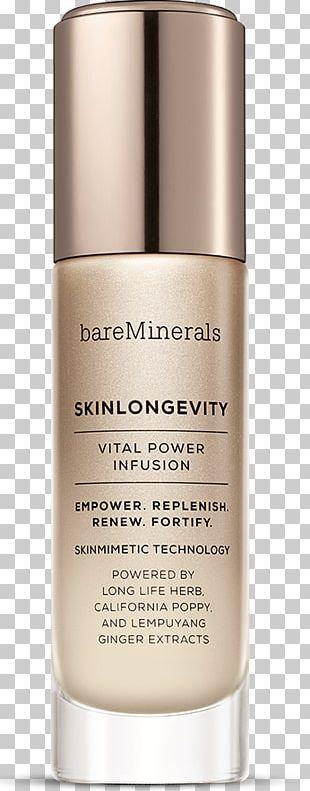 BareMinerals SKINLONGEVITY Vital Power Infusion Skin Care BareMinerals BAREPRO Performance Wear Liquid Foundation Cosmetics PNG