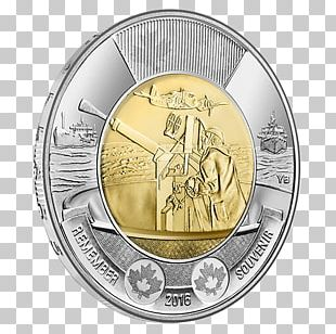 Coin Toonie Canada Battle Of The Atlantic Royal Canadian Mint PNG