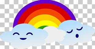 Rainbow Cloud Weather PNG