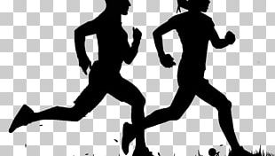 Running Silhouette Jogging Sport Walking PNG