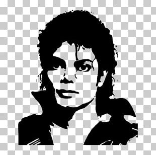 Michael Jackson's This Is It Silhouette Stencil PNG