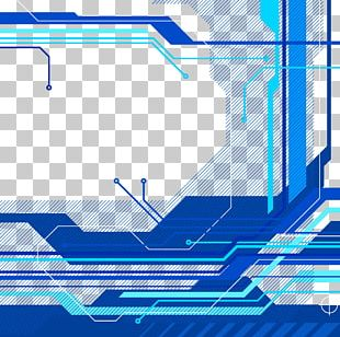 Blue Technology Background PNG