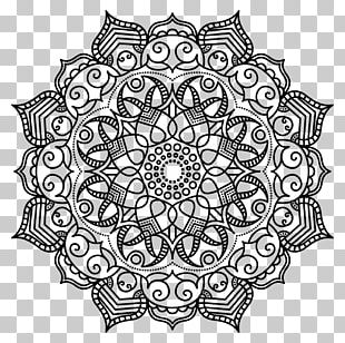 Mandala Coloring Book Meditation Pattern PNG