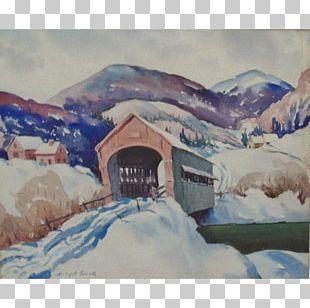 Watercolor Painting Watercolor Landscape Bridge Landscape Painting PNG
