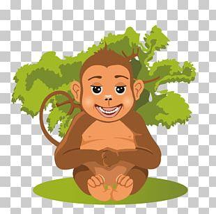 Baby Jungle Animals Cartoon PNG