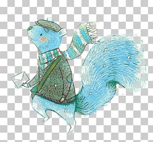 Squirrel Cartoon Illustration PNG