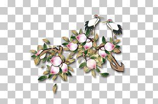Xiantao Longevity Peach Saturn Peach Crane PNG