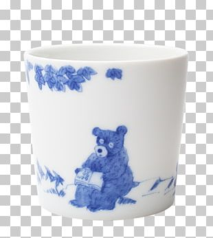Coffee Cup Ceramic Mug Blue And White Pottery PNG