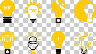 Incandescent Light Bulb Lamp Icon PNG