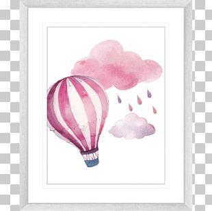 Watercolor Painting Drawing Hot Air Balloon PNG