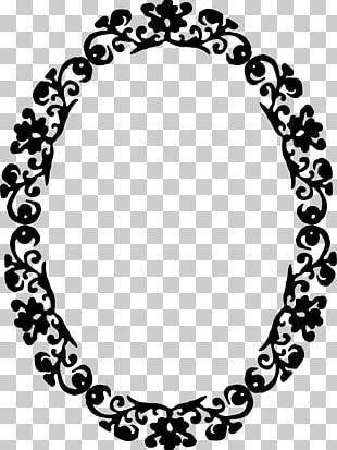 Borders And Frames Black And White Ornament PNG