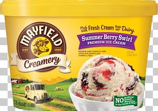 Ice Cream Mayfield Dairy Frozen Yogurt Butter Pecan PNG