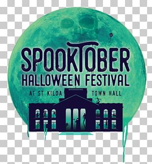 Spooktober Haunted House Green Festival Font Brand PNG