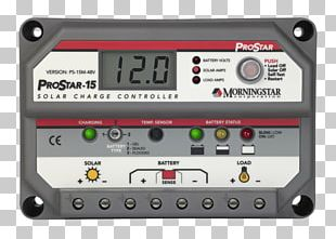 Battery Charge Controllers Maximum Power Point Tracking Solar Power Morningstar PNG