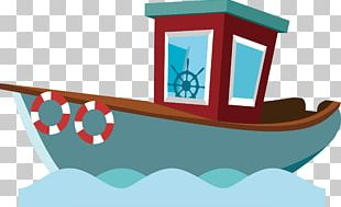 Cartoon Fishing Vessel Boat PNG