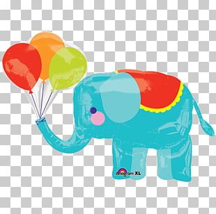Baby Shower Balloon Circus Elephantidae Party PNG