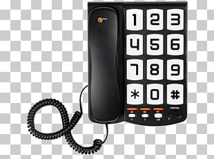 Corded Big Button Sologic T101 No Display Black Telephone Home & Business Phones Topcom Topcom Ts6651 Landline Phone With Large Keys Mobile Phones PNG