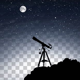 Telescope Silhouette Astronomy Astronomer PNG