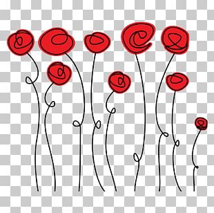 Doodle Rose Drawing PNG