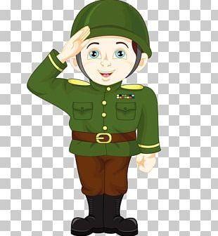 Soldier Salute Cartoon Military PNG