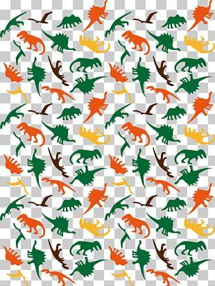 Dinosaur Drawing Motif Euclidean PNG