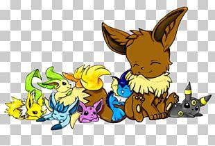 Eevee Pikachu Umbreon Espeon Pokémon PNG