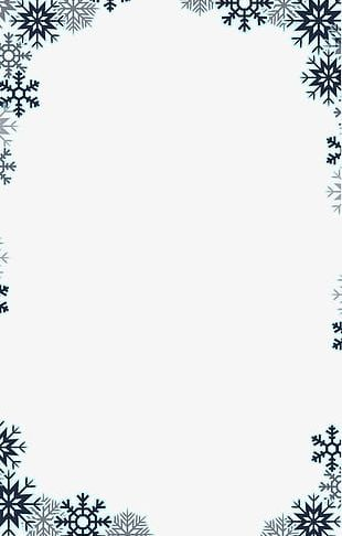 Snowflake Border PNG