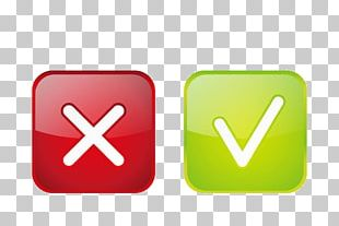 Green Check Mark Red Icon PNG