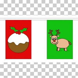 Reindeer Christmas Ornament Vlaggenlijn North Pole PNG