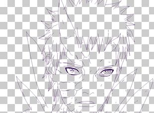 Eye Hair Coloring Line Art PNG
