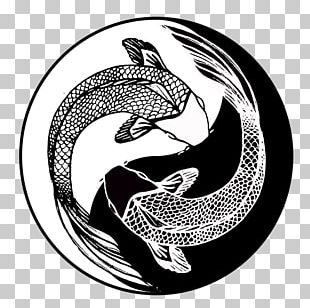 Yin Yang Fish Yin And Yang Taoism Drawing PNG
