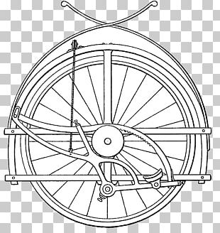 Bicycle Wheels Line Art Circle Drawing Rim PNG