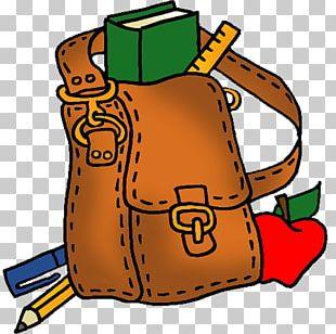 Elementary School Bag Backpack PNG
