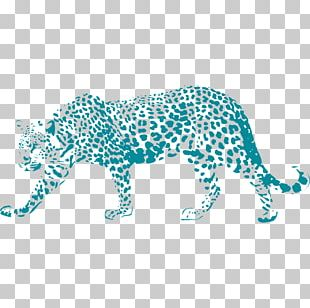 Leopard Jaguar Paper Sticker Stencil PNG