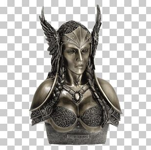 Valkyrie Statue Norse Mythology Sculpture Bust PNG