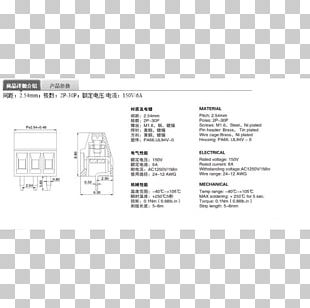Screw Terminal Electrical Connector Printed Circuit Board PNG