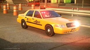 Ford Crown Victoria Police Interceptor Taxi Car New York City Police Department Yellow Cab PNG