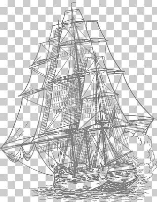 Sailing Ship Drawing Piracy PNG