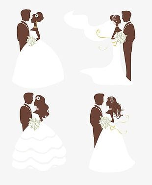 The Bride And Groom Illustration PNG