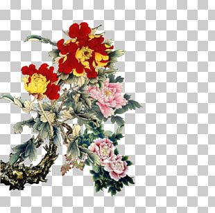 China Central Academy Of Fine Arts Gongbi Bird-and-flower Painting Chinese Painting PNG