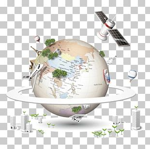 Earth Natural Satellite Icon PNG