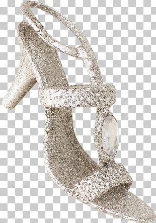 High-heeled Footwear Shoe Silver Designer PNG
